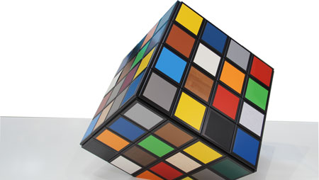 Photo of a cube with different FolaSal® coatings